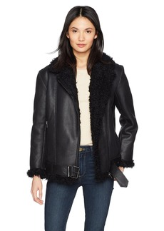 BB Dakota Women's Bosworth Vegan Leather Shearling Jacket