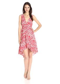 BB Dakota Women's Brianna Jallabah Printed Rayon Dress