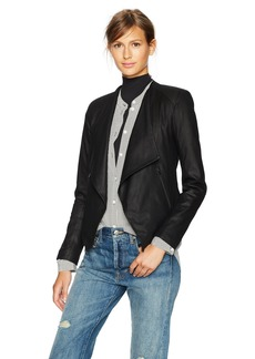 BB Dakota Women's Brycen Drape Front Leather Jacket