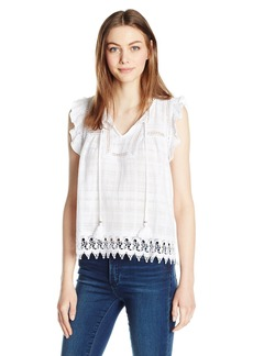 BB Dakota Women's Carrieann Lace Detailed Top Tassels