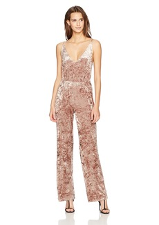 BB Dakota Women's Cassandra Crushed Velvet Jumpsuit