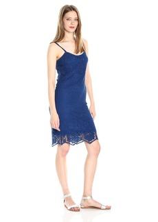 BB Dakota Women's Cassia Scallop Lace Shift Dress