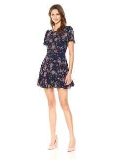 BB Dakota Women's Cassidy Printed Wrap Dress