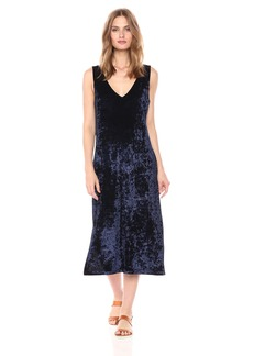 BB Dakota Women's Catrall Crushed Velvet Midi Dress