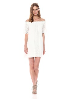 BB Dakota Women's Cece Off The Shoulder Lace Dress