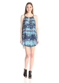 BB Dakota Women's Celeste Refractions Printed Reverse Crepon Dress