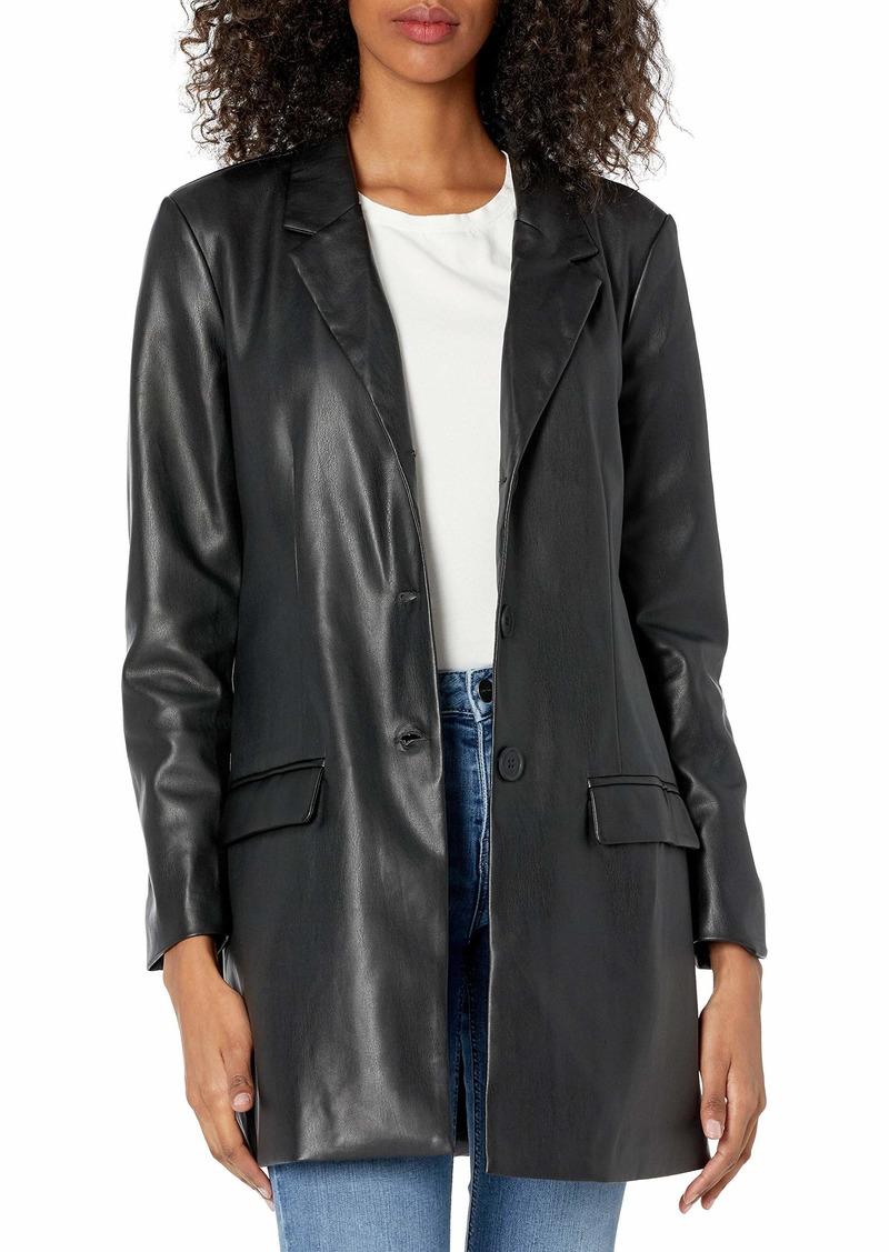 BB DAKOTA Women's CEO of Cool Faux Leather Blazer  XS (US 0-2)
