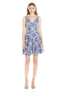 BB Dakota Women's Chastain Two Tone Lace Dress