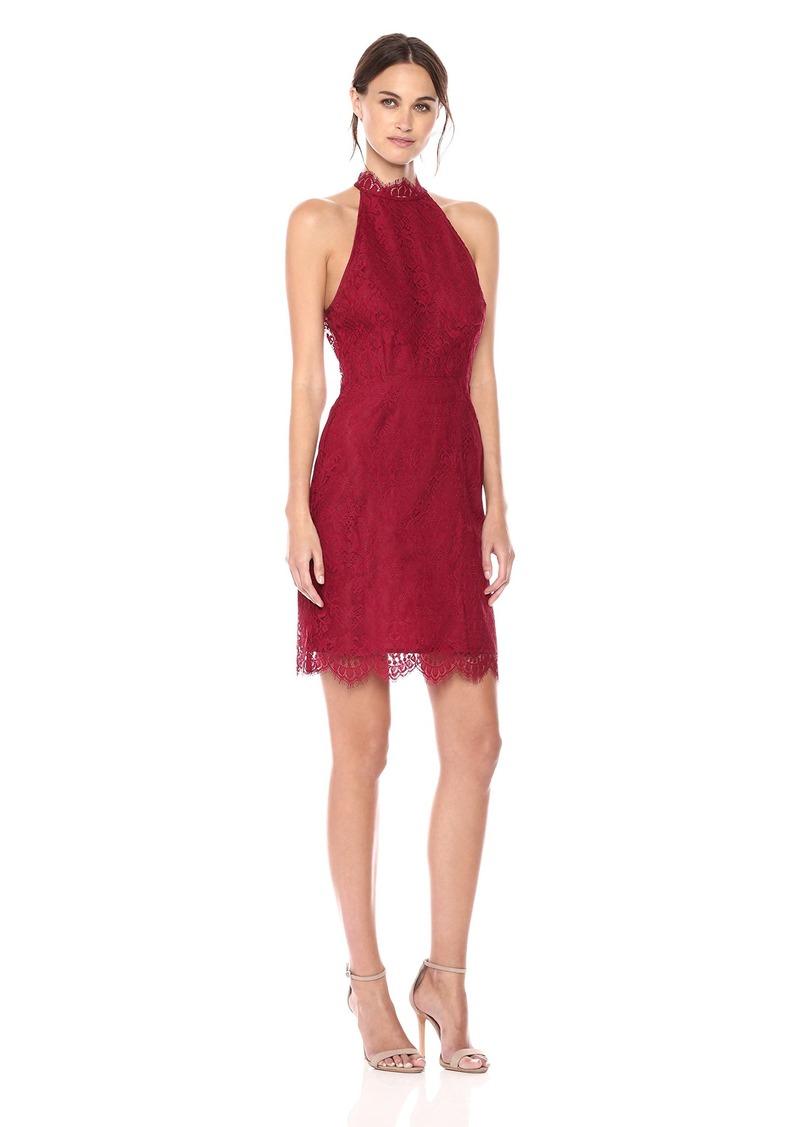 BB Dakota Women's Cherie High Neck Lace Shift Dress