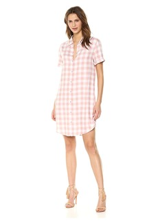 BB Dakota Women's Cicely Plaid Shirt Dress  Extra Small