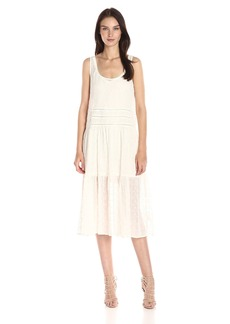 BB Dakota Women's Clara Embroidered Chiffon Trapeze Dress with Slip