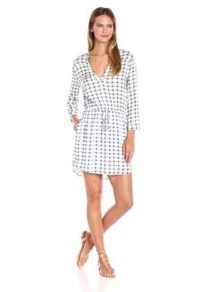 BB Dakota Women's Clay Plaid Print Dress