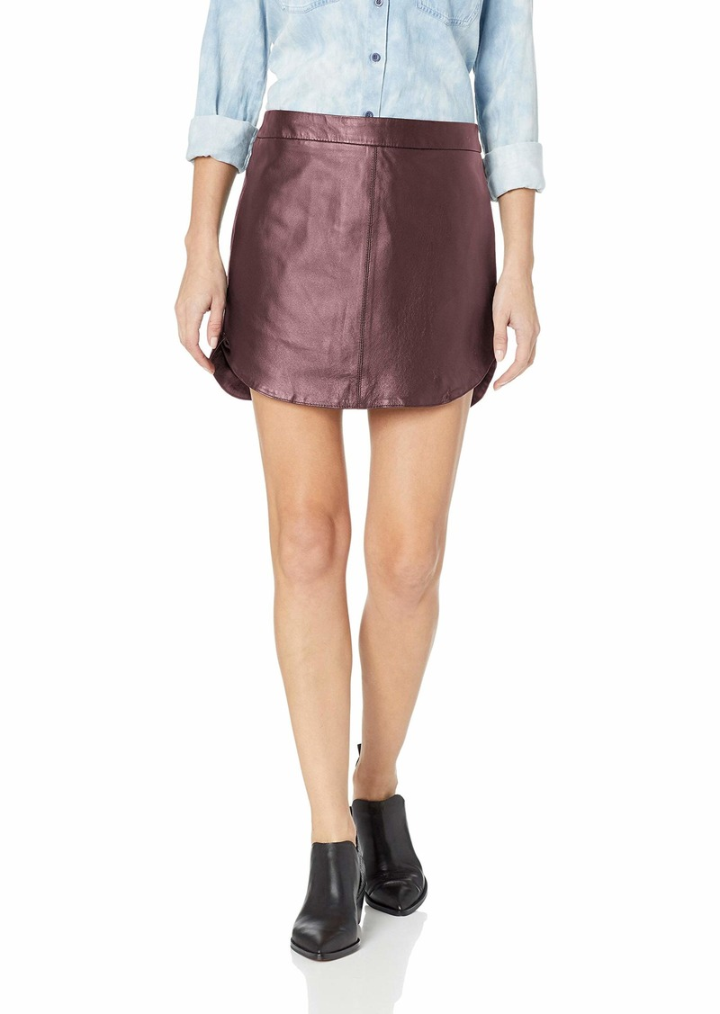 BB Dakota Women's Conrad Leather Mini Skirt