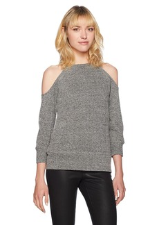 BB Dakota Women's Corwin Lurex Cold Shoulder Sweater