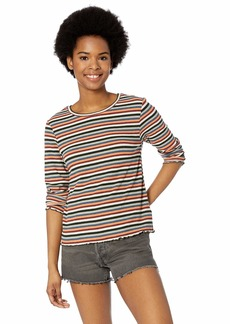 BB Dakota womens Cream of The Crop Stripe Knit top  small