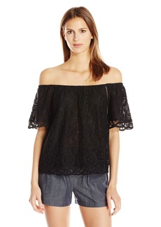 BB Dakota Women's Curren Off The Shoulder Lace Top