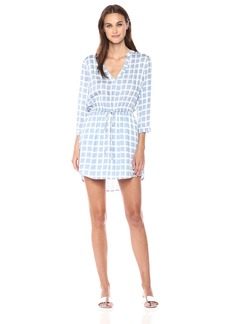 BB Dakota Women's Daniella Plaid Printed Shirt Dress