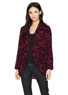 BB Dakota Women's Darrah Burnout Velvet Jacket