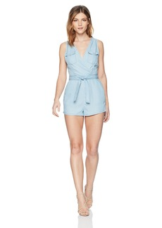 BB Dakota Women's Deann Faux Wrap Romper