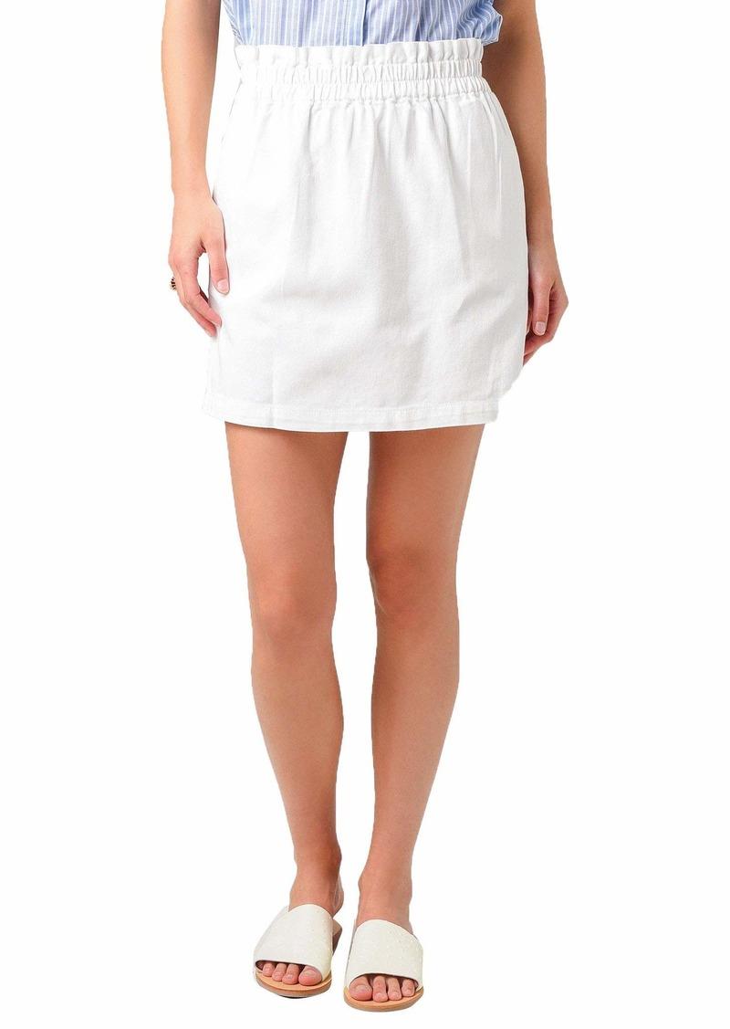 BB Dakota Women's Denim Paper Bag Waisted Skirt  MD (US 6-8)