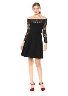 BB Dakota Women's Dennett Off The Shoudler Lace Detail Dress