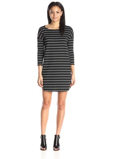 BB Dakota Women's Dinah Striped Ponte Dress