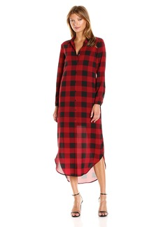 BB Dakota Women's Dunkirk Buffalo Plaid Midi Dress