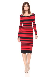 BB Dakota Women's Dunn Striped Sweater Dress