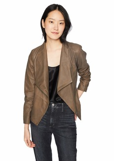 BB Dakota Women's Eastside Drape Fron Leather Jacket