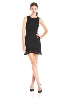 BB Dakota Women's Elene Ruffle Lace Dress