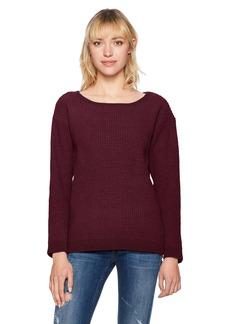 BB Dakota Women's Eugene Waffle Stitch Pullover Sweater