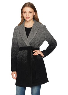BB Dakota Women's Evan Ombre Belted Woolen Coat