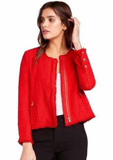 BB Dakota Women's Feeling Fancy Tweed Jacket Berry red small