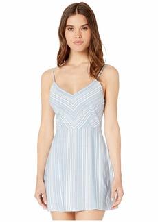 BB Dakota Women's fine Lines Yarn Dyed Shirt Dress