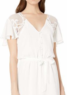 BB Dakota womens First Impressions CDC Dress with lace Detail ivory small