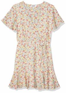 BB Dakota Women's Flower on Print Bubble Crepe Dress