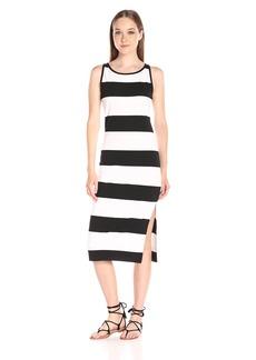 BB Dakota Women's Francesca Striped Ponte Midi Dress