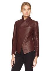 BB Dakota Women's Gabrielle Assymetrical Zip Jacket fig
