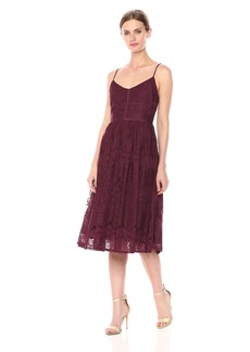 BB Dakota Women's Galena Lace Fit N Flare Dress fig