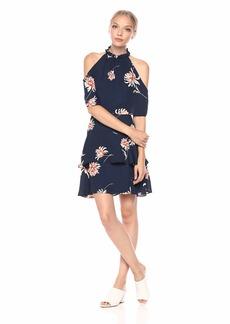 BB Dakota Women's Garden Variety Printed Dress Oil Slick