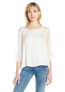 BB Dakota Women's Golding Lace Detiled Top