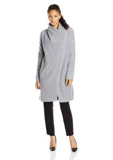 BB Dakota Women's Grady Drape Front Wool Coat
