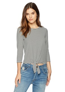 BB Dakota Women's Hadley Tie Front Knit Top