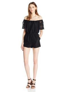 BB Dakota Women's Haidyn Off The Should Lace Romper
