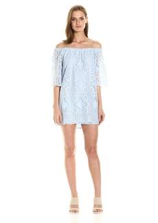 BB Dakota Women's Halden Off The Shoulder Lace Dress cyanide