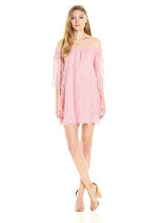 BB Dakota Women's Halden Off the Shoulder Lace Dress