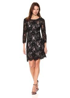 BB Dakota Women's Hale Scalloped Lace Dress With Lining