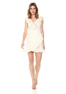 BB Dakota Women's Harlow Lace Wrap Dress