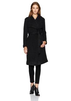 BB Dakota Women's Isaac Ribbed Woolen Drapey Coat