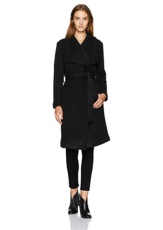 BB Dakota Women's Isaac Ribbed Woolen Drapey Coat